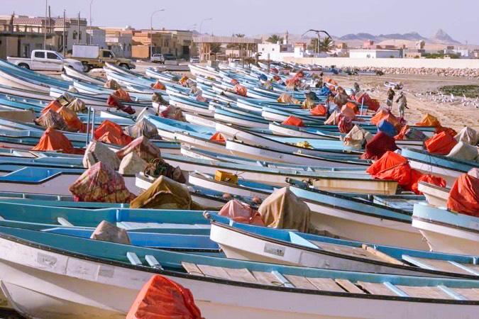 Pêcheurs sur l'île de Masirah